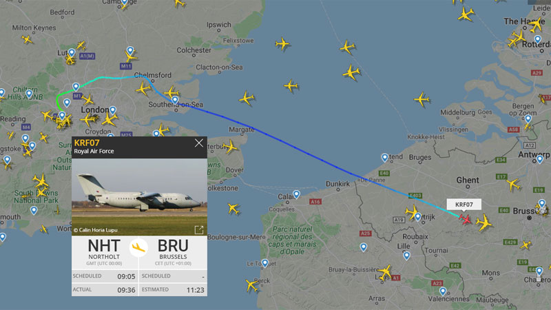 RAF Heading to Brussels from Northolt