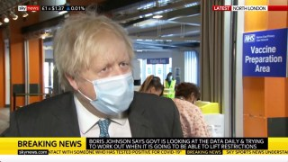 """WATCH: Boris Says Government is """"Looking at the Potential of Relaxing Some Measures"""" Before Mid-February"""