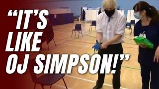 WATCH: Boris's OJ Simpson Glove Gag