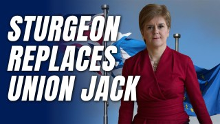 Sturgeon Replaces Union Jack with EU Flag