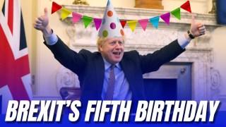 Boris Hails Fifth Brexit Anniversary