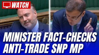 SNP Frontbencher Schooled on EU Trade Figures by Minister