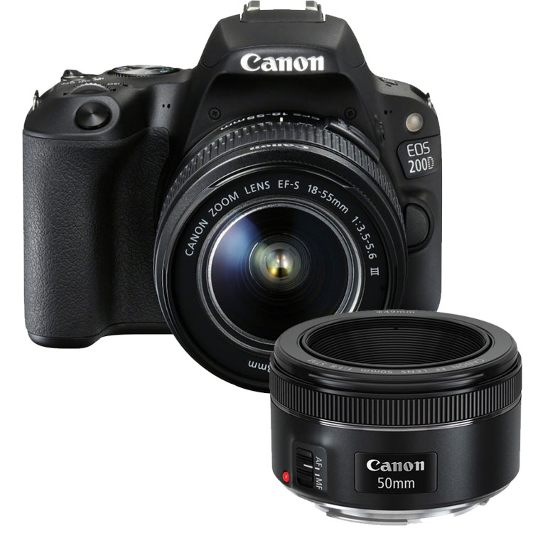 Canon EOS 200D zwart + 18-55mm is STM + 50mm F/1.8 STM Canon EOS Rebel T6i 24.2MP WiFi Enabled Digital SLR Camera + Canon EF-S 18-55mm IS STM + Canon EF-S 55-250mm IS STM + 2pc High Speed 32GB Memory Cards + UV Filter + Dedicated TTL Flash [x] Canon EOS Rebel T6i Bundle 12229336 1
