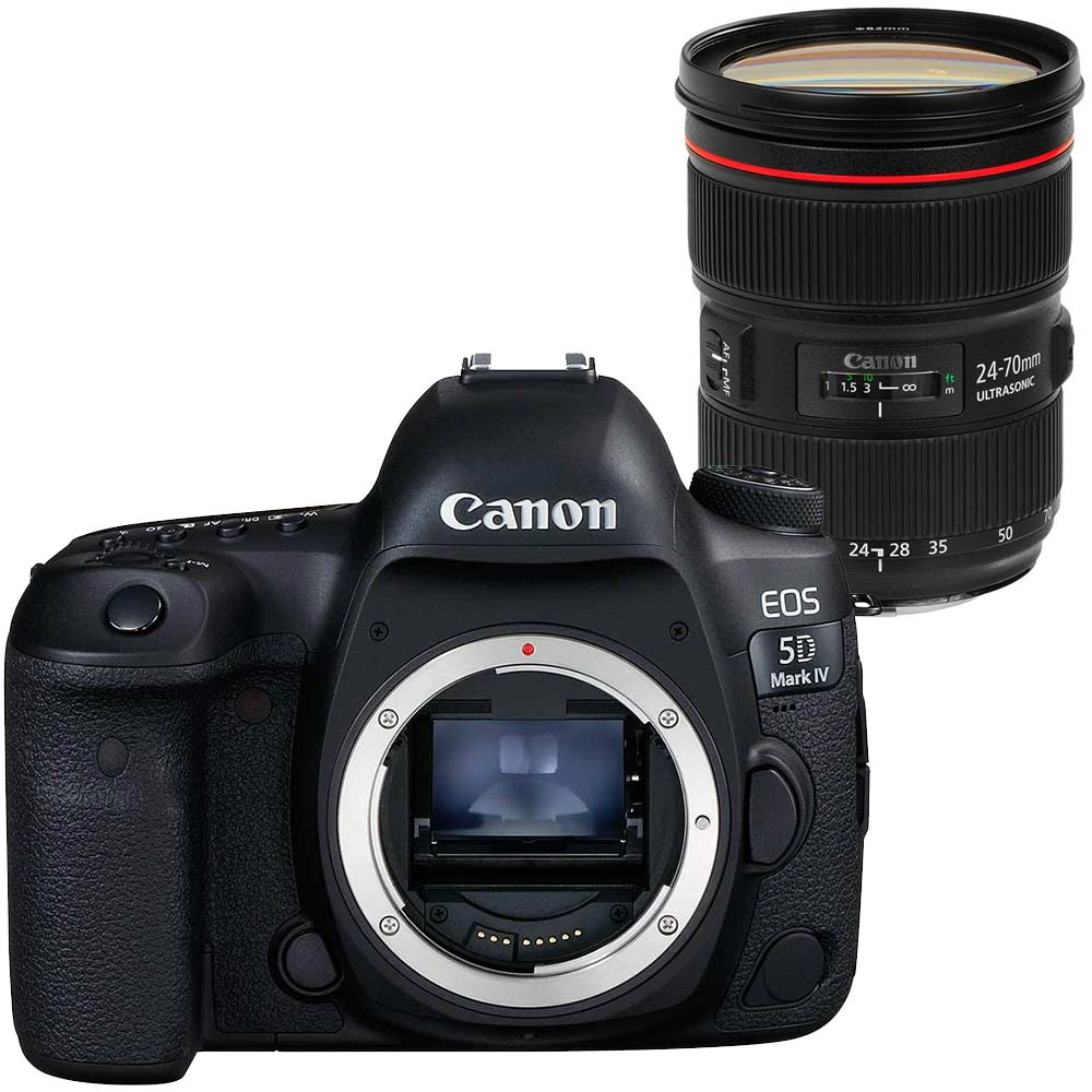Canon EOS 5D Mark IV + 24-70mm F/2.8 L USM II canon eos 5d mark iv dslr camera (body only) w/ 64gb compact flash card bundle Canon EOS 5D Mark IV DSLR Camera (Body Only) w/ 64GB Compact Flash Card Bundle 1220748255 1