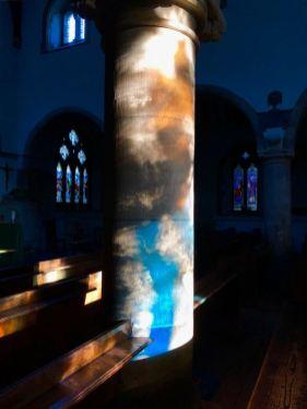 Transillumination detail St Mary's Church Whickham