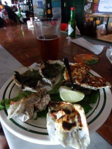 Oyster sampler at Half Shell Raw Bar