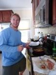 Jack cooking fresh Spanish mackerel