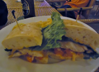 Snapper sandwich at Rackams