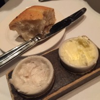 Bread with butter and whipped lardo at CarneVino at Palazzo Hotel