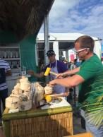 Fresh coconuts at the Malibu rum tent