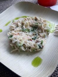Stone crab salad