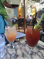 Greyhound and Bloody Mary at Blue Heaven - 729 Thomas Street, Key West - blueheaven.com