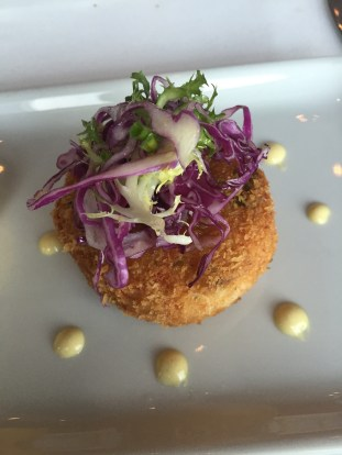 Dungeness crab and shrimp cake at Chops Grille