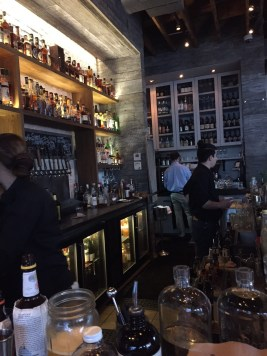 Bar area at Yardbird - check out their extensive list of bourbons!