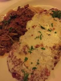 Veal Cutlet Parmigiana with Spaghetti at John's of 12 Street