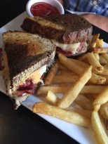 Reuben sandwich from Solas Irish Pub