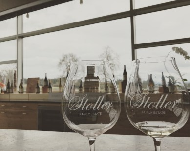 Wine tasting at Stoller Family Estate in Dayton, OR
