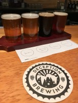 Beer tasting at Deception Brewing Company in Dundee, OR