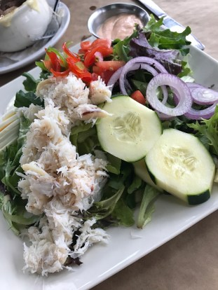 Doc's Crab Louie Salad at Doc's Marina Grill on Bainbridge Island, WA