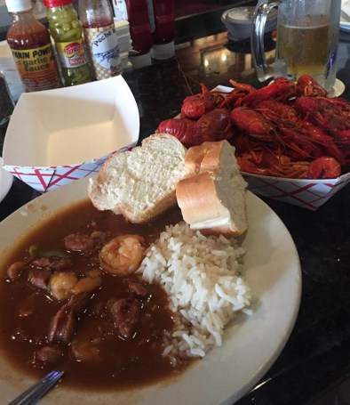 Seafood Gumbo and Boiled Crawfish
