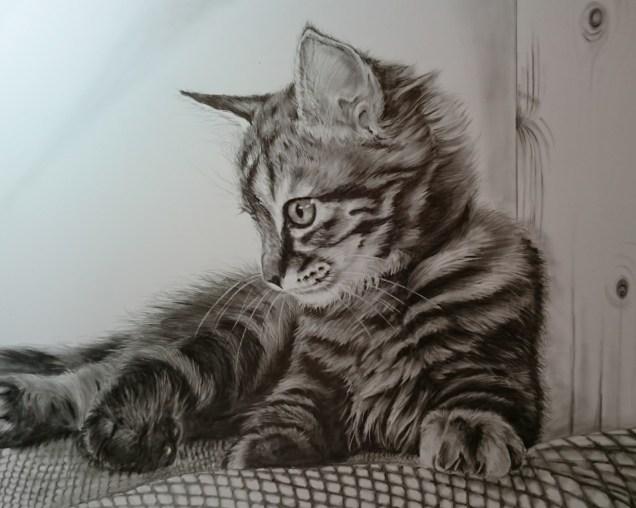 仔猫2(額装付)