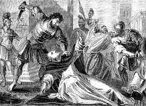 James killed wtih the sword
