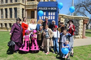 Order of Gallifrey and USS Joshua Members at Doctor Who Day on the Square in Denton, TX