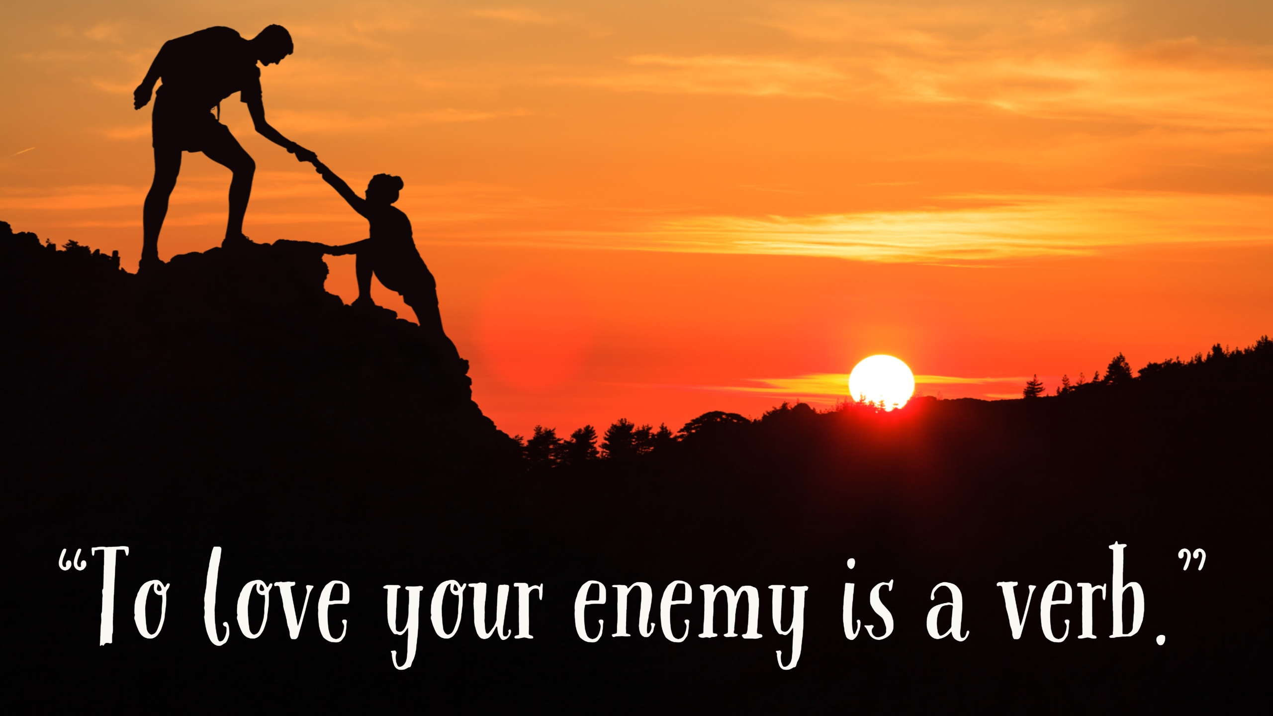 Love Your Enemies By Fr Shawn E Gisewhite Opi