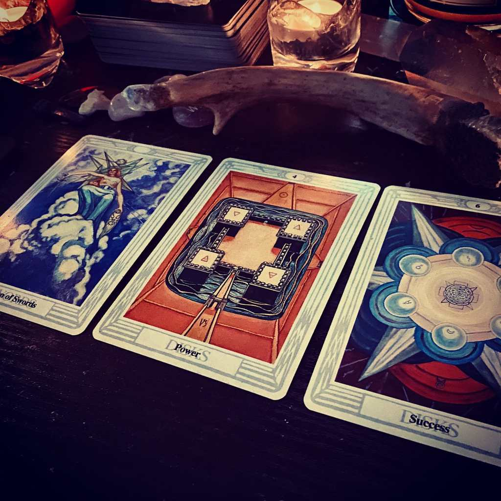 3 cards from Thoth Tarot