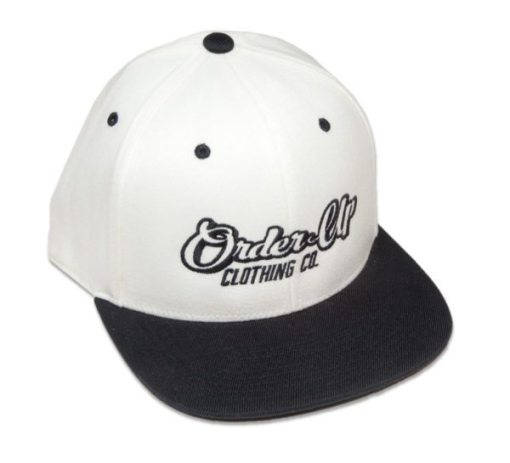 Hat White Front Snapback