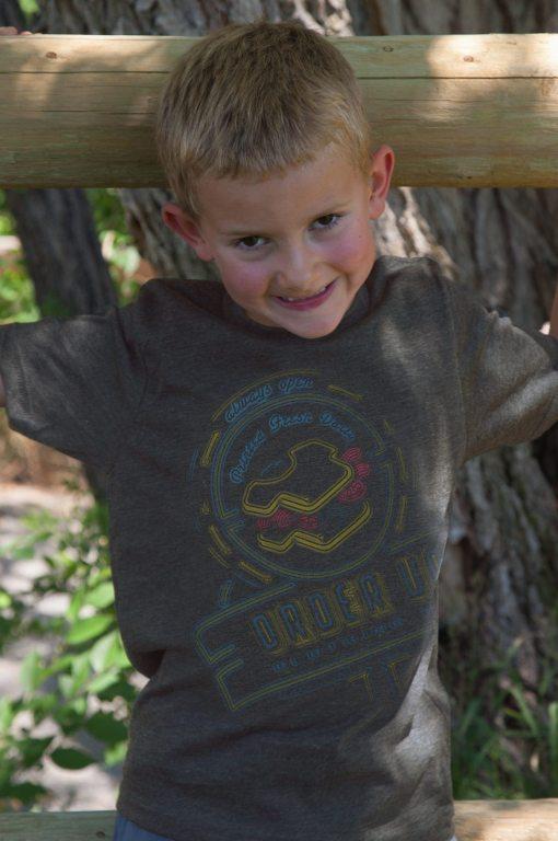 Kids Black Neonsign T-shirts