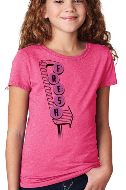 Kids Fresh Raspberry Model, woman's vintage graphic tees, vintage graphic tee
