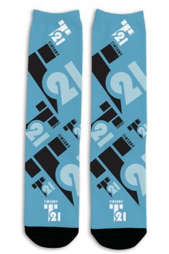 Timsomy 21 logo socks