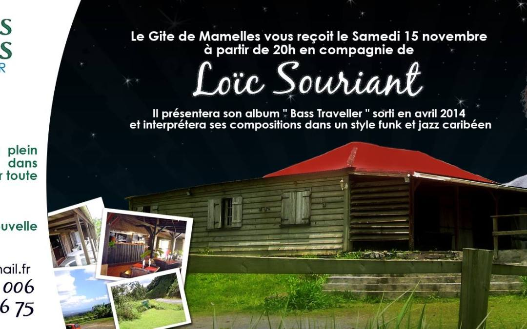 Loïc Souriant, concert au Gite des Mamelles