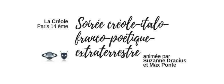Poésie – Soirée créole-italo-franco-poétique-extraterrestre