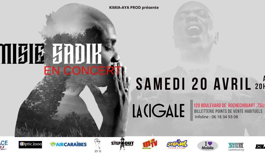 Concert – Misié Sadik– «An Silans Tour» à la Cigale