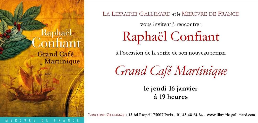 Littérature – Raphaël Confiant – Grand Café Martinique