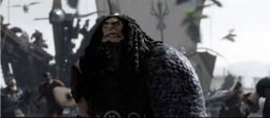 Hikke får sin sag for i kampen med den drabelige Drago Bludvist. Foto: Twentieth Century Fox