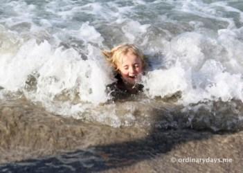 Seb in sea