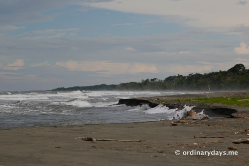 Waves on Costa Rica beach