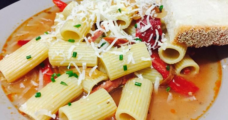 Spicy Salami pasta