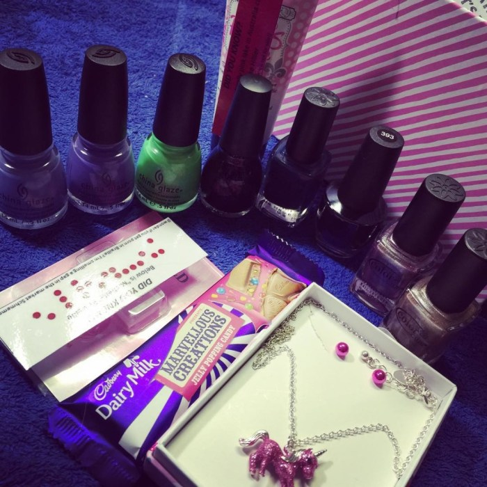 My EPIC #NailAnarchy Christmas in July box from @madness_nails I can't even deal with all this awesome! Thank you so much Bok!!