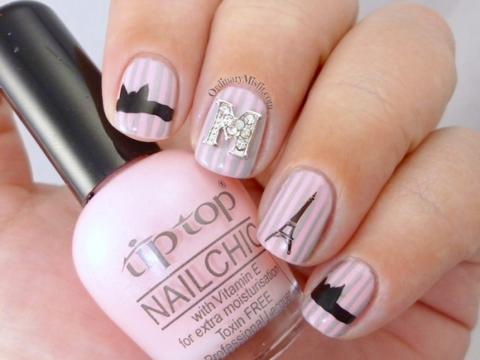 French affair with nail candi nail art  2