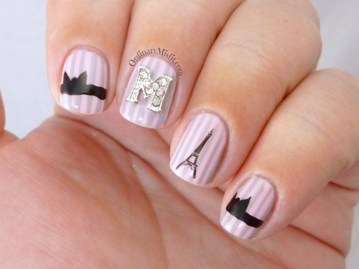 French affair with nail candi nail art 5
