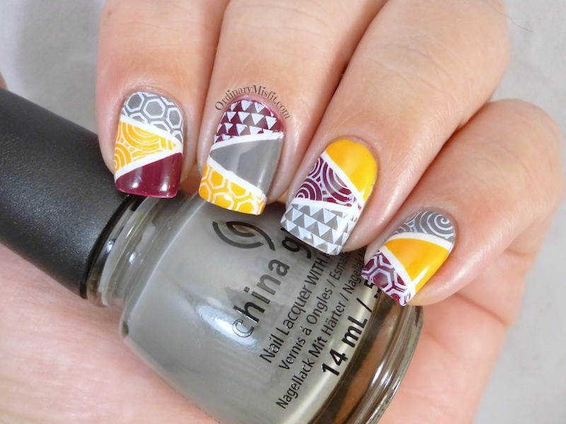 Twinsie Thursday: Geometric nail art