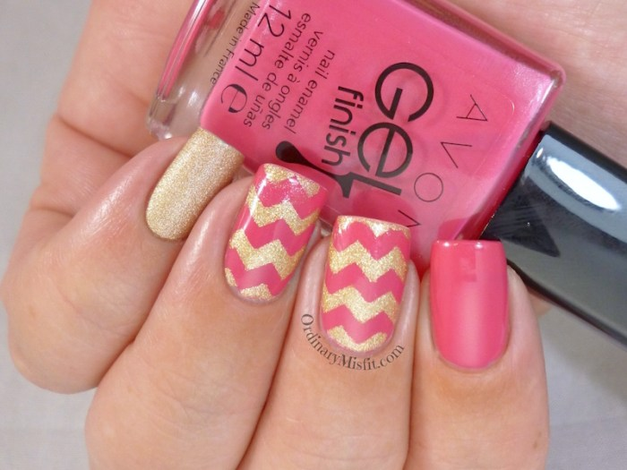 Pink and gold zig zag 3