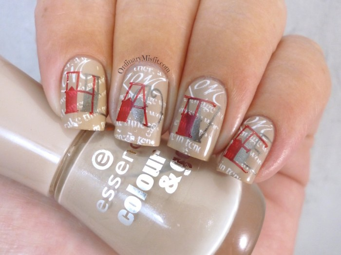 Nail Anarchy February tainted love nail art 2