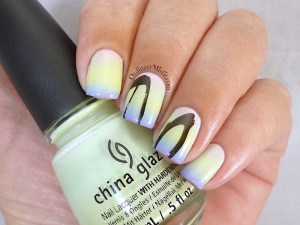 Easter Gradient nail art
