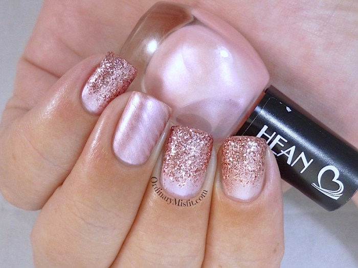 Hean I love Hean collection #411 with nail art 2