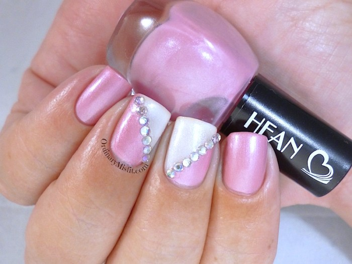 Hean I love Hean collection #412 with nail art 2